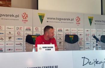 Adam Buczek po wygranej nad TS Gwarkiem Tarnowskie Góry